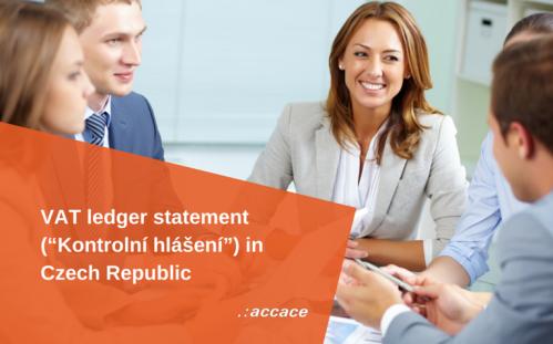 """VAT ledger statement (""""Kontrolní hlášení"""")"""