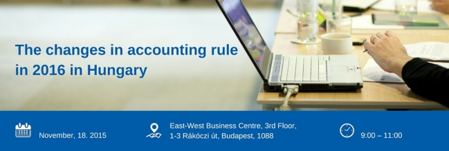 Business Breakfast + the changes in accounting rule in 2016 in Hungary