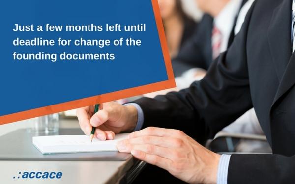 Changes in founding documents  in Czech Republic