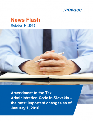 Amendment to the Tax Administration Code in Slovakia – the most important changes as of January 1, 2016