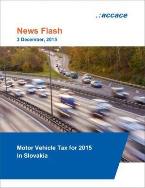 Motor Vehicle Tax for 2015 in Slovakia | News Flash