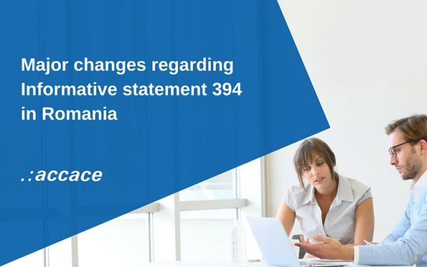 New amendments to form 394  in Romania   News Flash