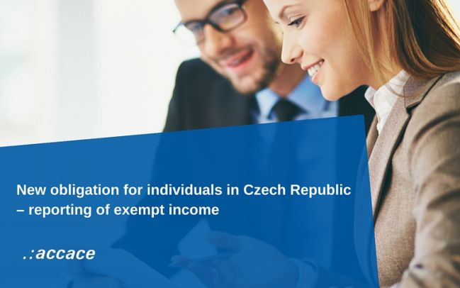 New reporting obligation of exempt income received by individuals  in Czech Republic