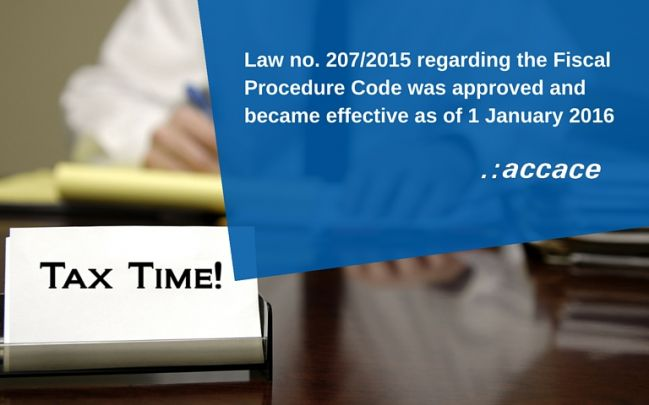 Amendments brought to the Fiscal Procedure Code as of 1 January 2016