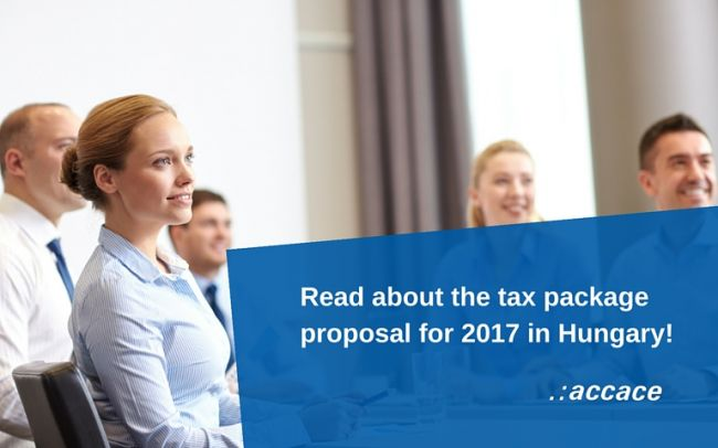 Tax package proposal for 2017 in Hungary