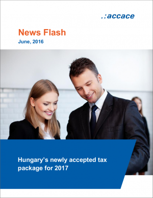 Hungary's newly accepted tax package for 2017   News Flash