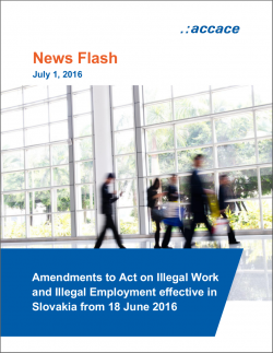 Amendments to Act on Illegal Work and Illegal Employment effective in Slovakia from 18 June 2016