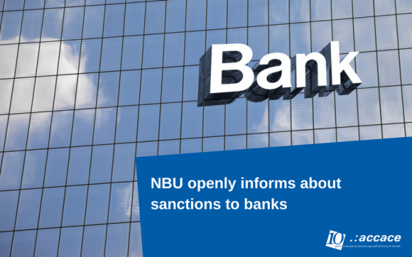 NBU openly informs about sanctions to banks