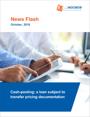 Cash-pooling: a loan subject to transfer pricing documentation | News Flash