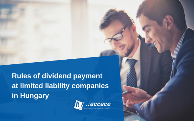 Rules of dividend payment at limited liability companies in Hungary