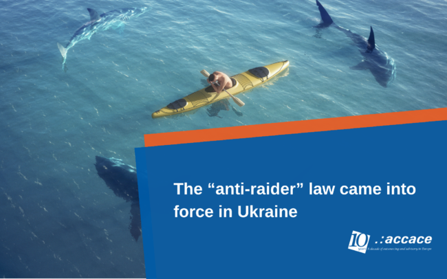 "The ""anti-raider"" law came into force in Ukraine 