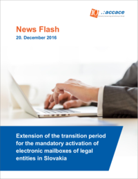 Extension of the transition period for the mandatory activation of electronic mailboxes of legal entities in Slovakia | News Flash
