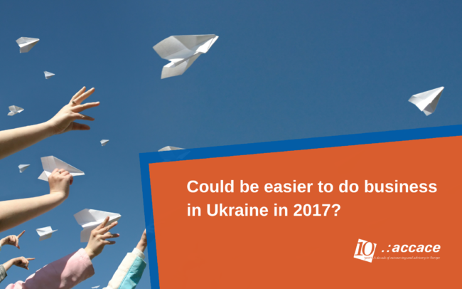 Deregulation of business. Could be easier to do business in Ukraine in 2017?