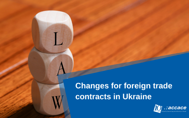 Changes to the foreign trade contracts in Ukraine