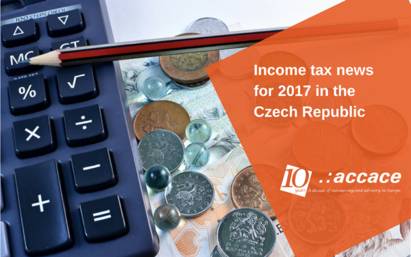 Income tax news for 2017 in the Czech Republic