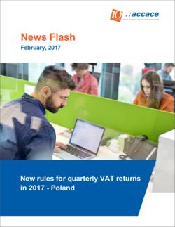 New rules for quarterly VAT returns in 2017 - Poland