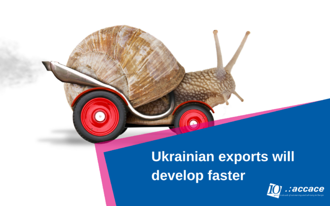 Good news! The ukrainian export will develop faster than before