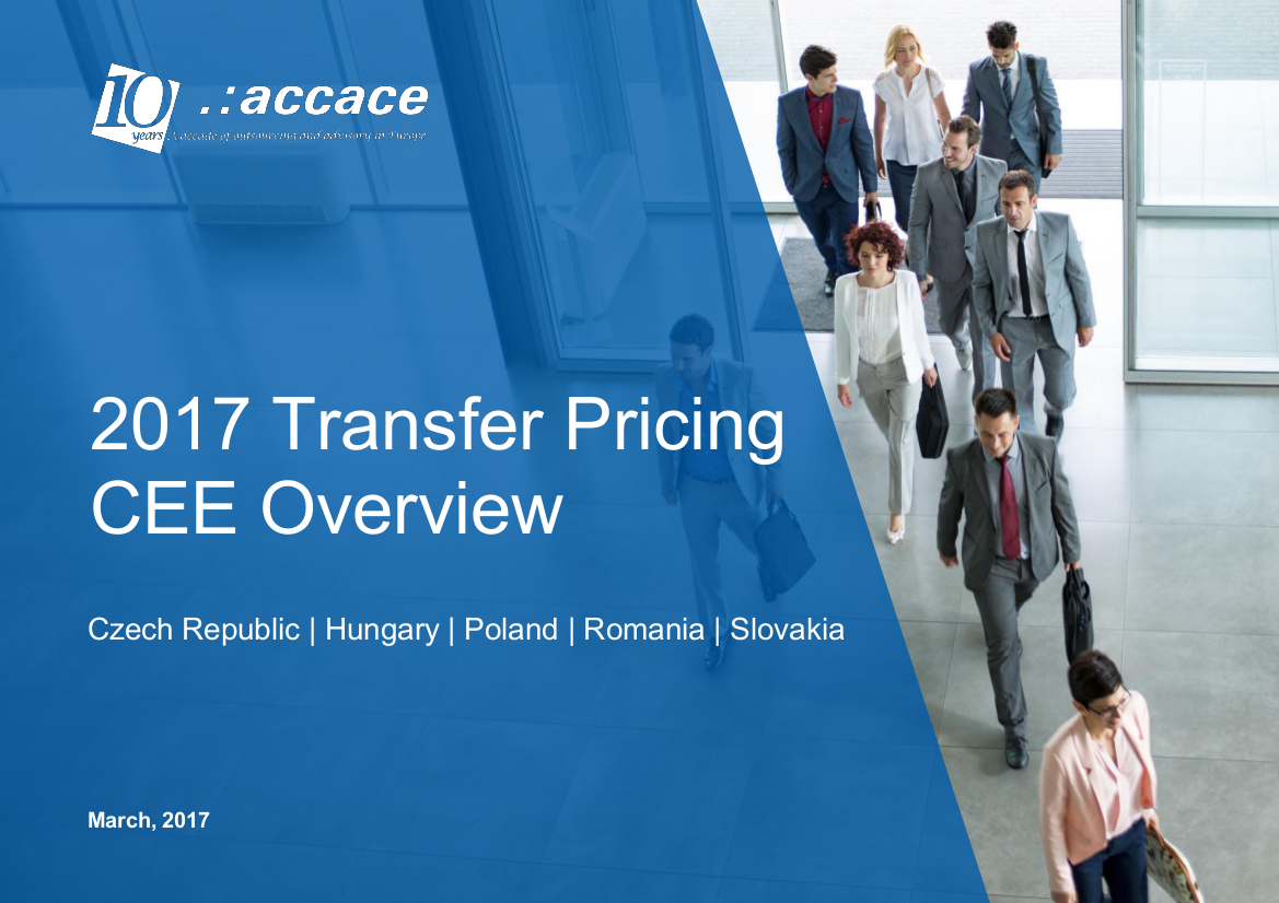 Transfer pricing in CEE, 2017