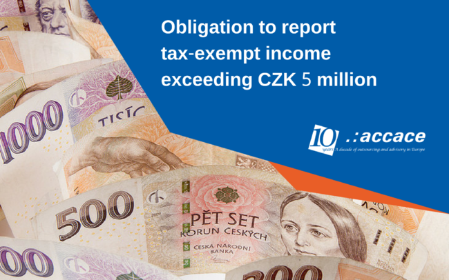 Reporting obligation of exempt income received by individuals in the Czech Republic | News Flash