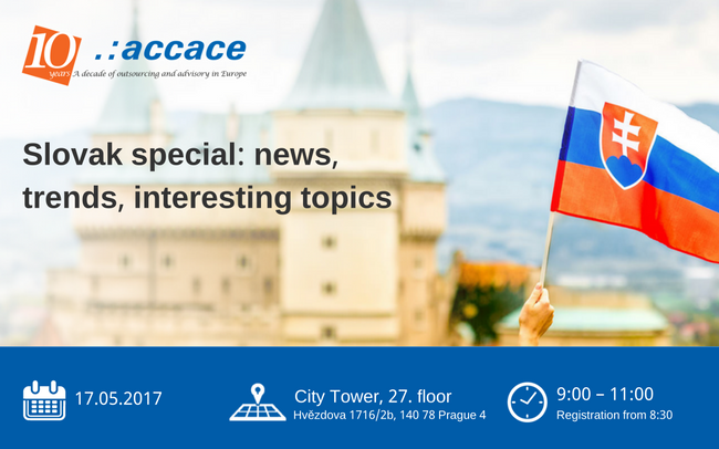 Slovak special – tax and legal news, trends, interesting topics | Accace Czech Republic