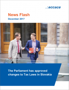 The Parliament has approved changes to Tax Laws in Slovakia