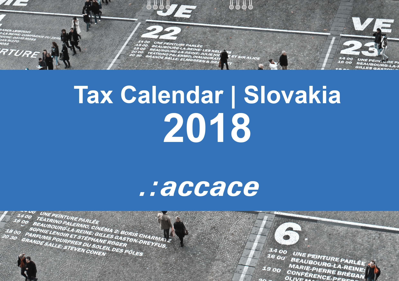 2018 tax calendar slovakia