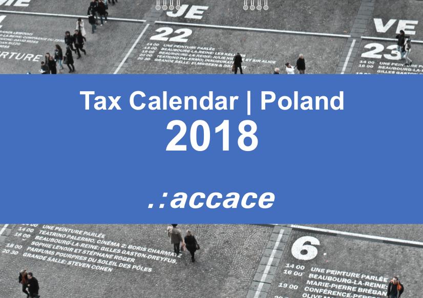 Tax calendar poland