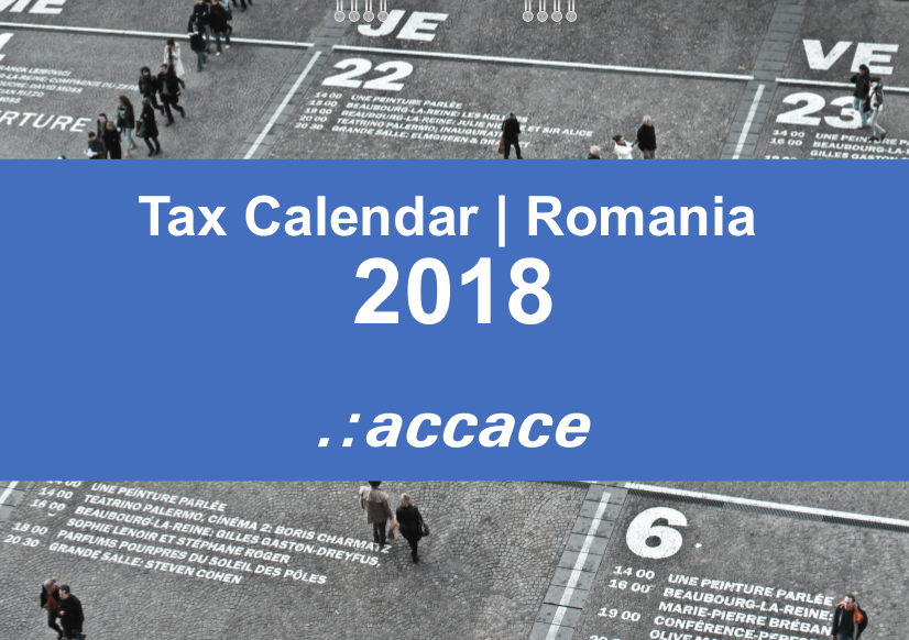 2018 Tax calendar for Romania