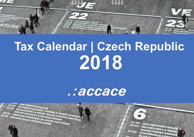 2018 Tax Calendar Czech Republic