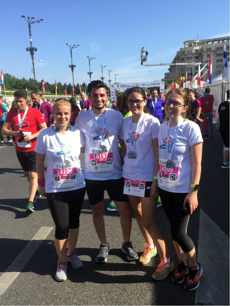 """Accace Romania runners at Bucharest Half Marathon, supporting the """"Planting good deeds in Romania"""" NGO"""