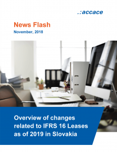 Overview of changes related to IFRS 16 Leases as of 2019 in Slovakia Accace