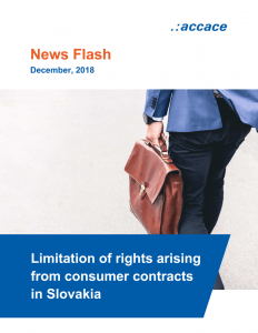 Limitation of rights arising from consumer contracts in Slovakia - Accace