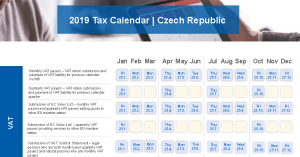 2019 Tax Calendar for the Czech Republic - Accace