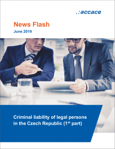 Criminal liability of legal persons in the Czech Republic | News Flash Accace