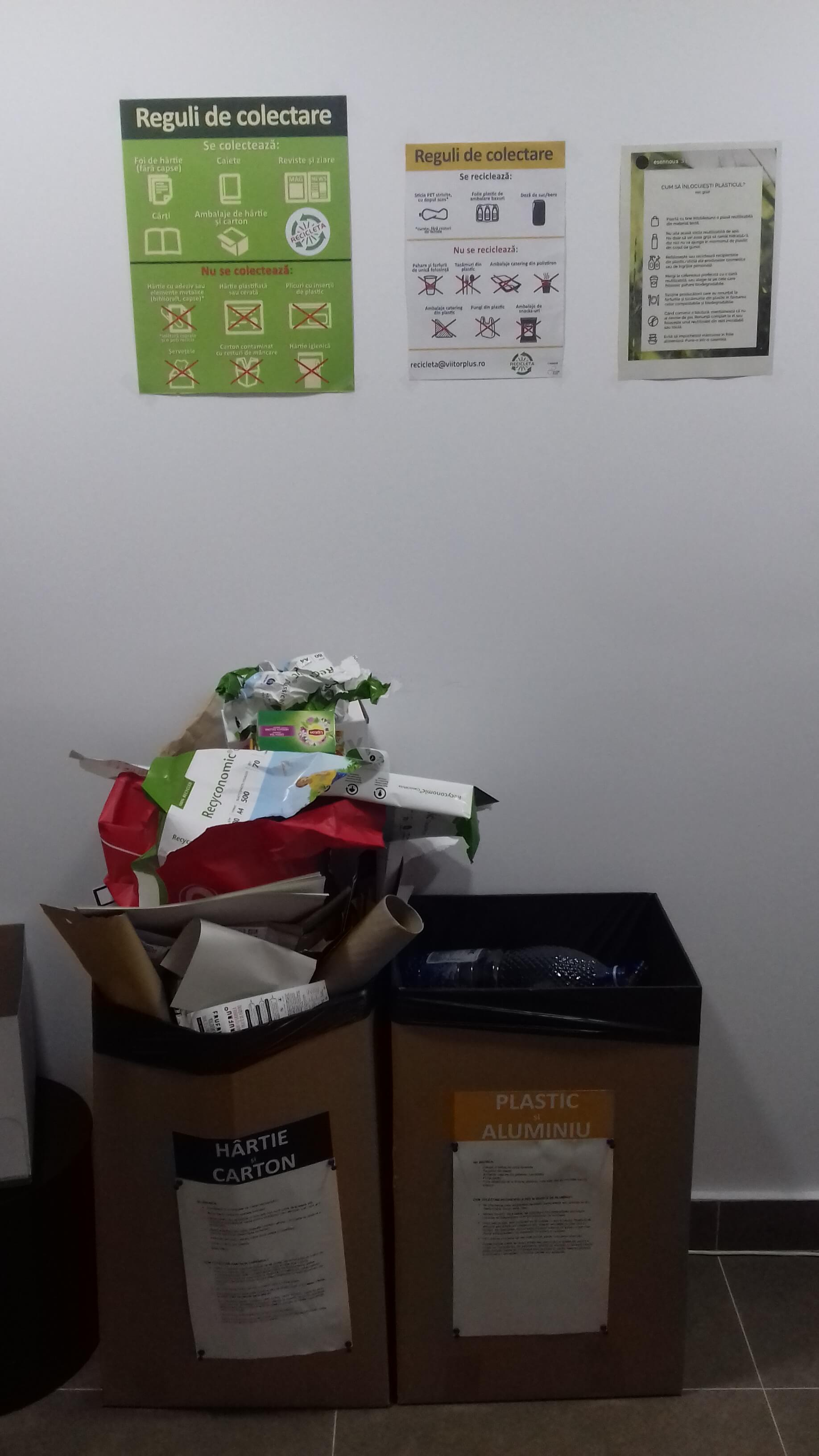 "Separate office waste collection with the help of ""Recicleta"" program in Accace Romania CSR"