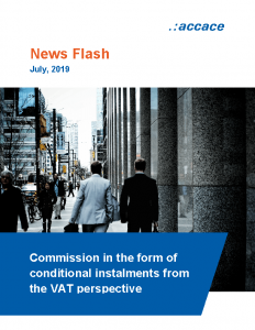 Commission in the form of conditional instalments from the VAT perspective Accace Slovakia News Flasf