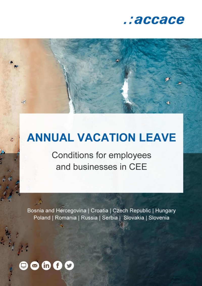 Accace - Comparison of vacation rights in CEE Annual vacation leave