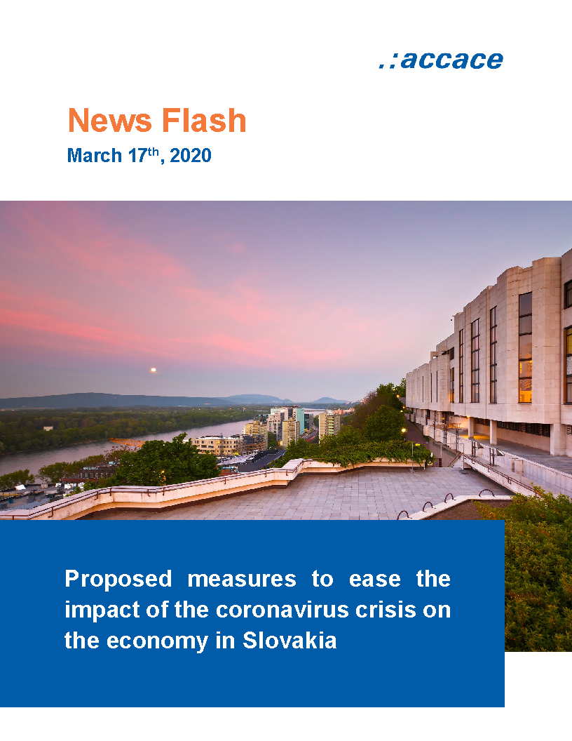 Proposed measures regarding taxes, health and social insurance contributions in Slovakia to ease the impact of the coronavirus crisis on the economy Accace